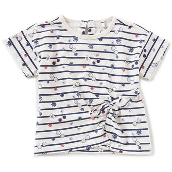 Jessica Simpson Little Girls 2T-6X Striped Knot-Front Top | Dillards