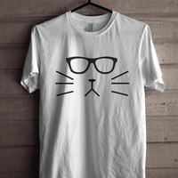 Geek Cat Men Tshirt tee Short sleeve