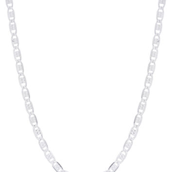 """925 Sterling Silver Reversible Valentino Chain Necklace - 18"""" & 20"""" Available"""