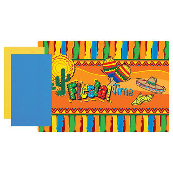9 3/4 x 14 Mexican Fiesta Combo Pack/250 Placemats & Dinner Napkins/Case of 500