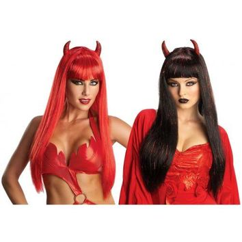 Glam Devil Wig Costume Accessory Adult Halloween