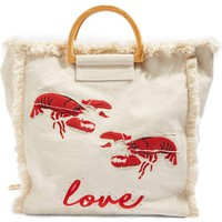 Topshop Bobby Lobster Love Canvas Shopper | Nordstrom