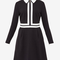 Collared colour-block dress - Black | Dresses | Ted Baker UK