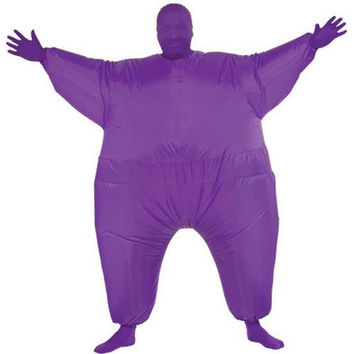 Costume Morphsuit: Inflatable Skin Suit - Purple