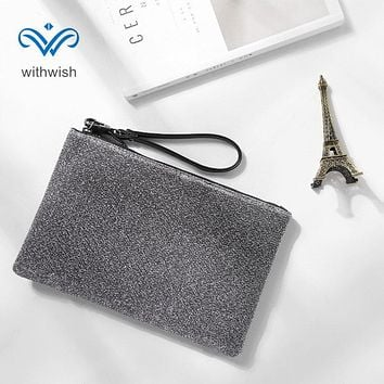EU Concise Style Zipper Wrist Bag Multi - functional Handbag Large Capacity Wallet Clutch Bags Mobile Phone Bag Free Shipping