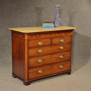 Antique Chest of Drawers Tallboy Commode Mahogany Marble English Georgian c1780