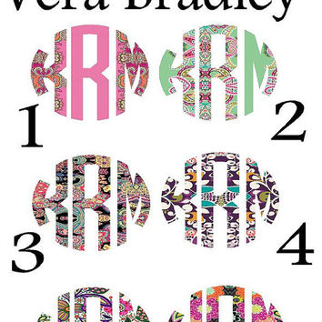 Vera Bradley Inspired Iron on Monograms