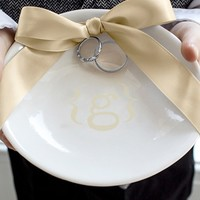 Cathy's Concepts Personalized Wedding Ring Dish