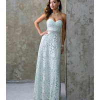 Nina Canacci 1200 Light Green Lace Sweetheart Long Dress 2016 Prom Dresses