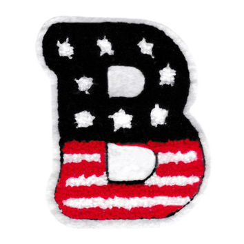 """Large Chenille American Letter """"B"""" Patch 9cm"""