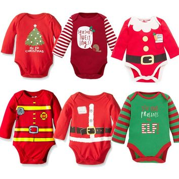 Christmas Costume For Baby Boy Cartoon Cotton Baby Bodysuit Baby Girl Body Suit Baby Girl Body