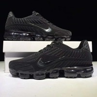 NIKE AIR VAPORMAX FLYKIT Fashion Flats Sport Shoes Running Sneakers Full Black G-CSXY