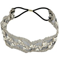 Women's Fashion Lace Pearl Beads Headhand Hairband Hair Band
