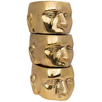 Set of 3 Character, Brass