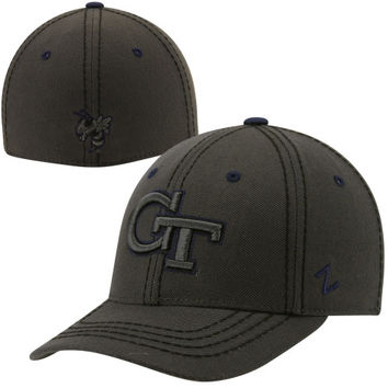 Zephyr Georgia Tech Yellow Jackets Smoke Fitted Hat - Charcoal