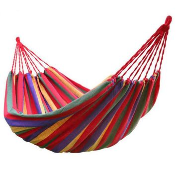 Portable Colorful Outdoor Double Hammock