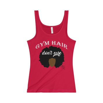 Gym Hair Don't Care Jersey Tank