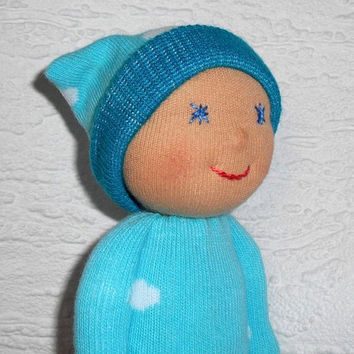 Waldorf Doll, Sock doll, Pocket Doll for little boys , Baby doll, Gift for baby shower, Toddler doll