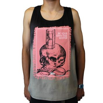 Time Keeper Tanktop in black and grey