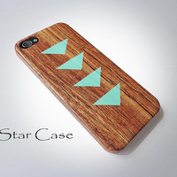 iPhone 4/ 4s and 5 Case  Triangles on Wood iPhone 4 5 by STARCASE