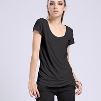 Black Short Sleeve T- Shirt