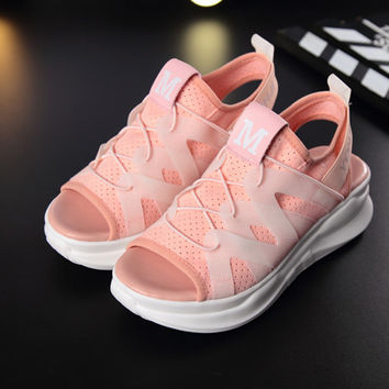 Alexander McQueen Casual Fish Mouth Ventilation Platform Sandals Shoes