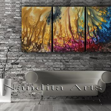 Modern Wall Art Abstract Painting on Canvas , Original Acrylic Painting, Large Canvas Oil Painting, Contemporary Art, Living room decor