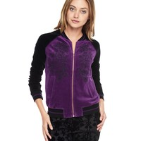 Embroidered Velour Bomber by Juicy Couture