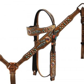 Showman ® Native American Chief headstall and breast collar set