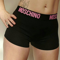 Reworked moschino crop shorts
