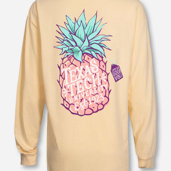 Texas Tech Pineapple Vibes on Butter Long Sleeve Shirt