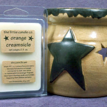Soy Wax Melt // Orange Creamsicle // Highly Scented Soy Wax Tart // Mother's Day Gift // Primitive Home Decor