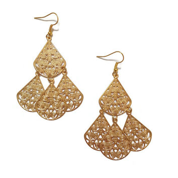 Boho Drop Earring Gold