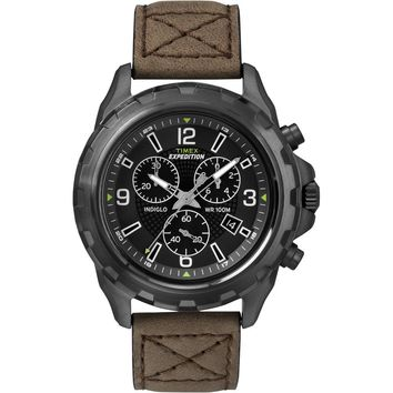 Timex Expedition Rugged Chronograph Watch - Brown-Black [T49986]