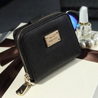 Multifunction Women's Purse Wallets 3 Colors Leather Zipper Wallet Card Holder Pocket Purse Bolsa CF