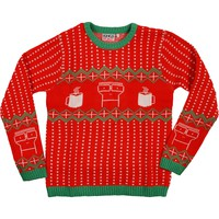 Descendents Men's  Red Knit Holiday Sweater Sweatshirt Red