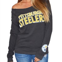 Pittsburgh Steelers Womens Off Shoulder Sweatshirt | SportyThreads.com