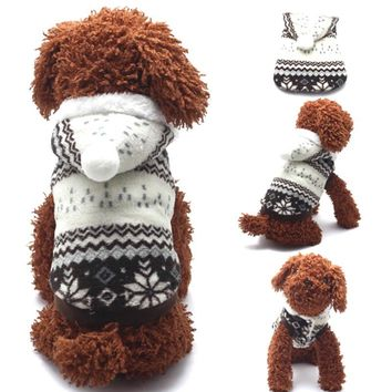 Hot Selling Winter Pet Clothes Cozy Snowflake Soft Dog Clothes jacket Cat Costume Teddy Hoodie Dog Coat Pet Clothing
