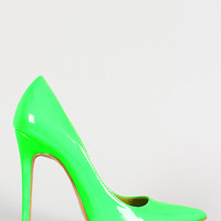 Shoe Republic Neon Patent Pointy Toe Stiletto Pump