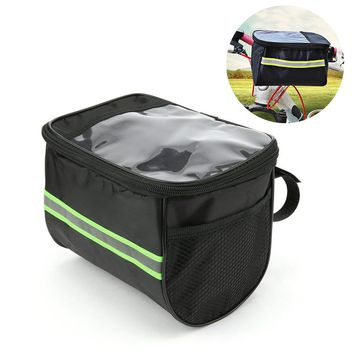 New Style 20 Inch Large Capacity Bike Front Basket Durable Waterproof Tube Handlebar Bag Outdoor Sport Accessories Bicycle Bags