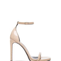 Saint Laurent Patent Leather Jane Sandals in Poudre | FWRD
