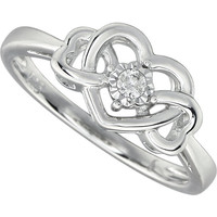 .05 CTW Diamond Heart Ring