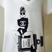 CHANEL T-SHIRTS FOR WOMEN