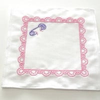 Baby Girl Embroidered Label Baby Frame