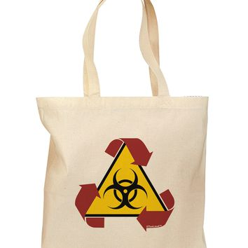 Recycle Biohazard Sign Grocery Tote Bag by TooLoud