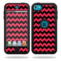 Mightyskins Protective Vinyl Skin Decal Cover for OtterBox Defender Apple iPod Touch 5G 5th Generation Case Zig Zag Chevron