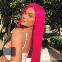 Kylie J- Heat Resistant Hair Hot Pink Synthetic Lace Front Wig