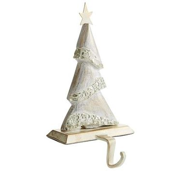 Mosaic Wood Tree Stocking Holder