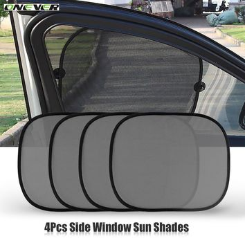 Onever 2pcs/set Black Car Sun Shade Visor Shield Side Window Sunshade Cover Mesh Screen Solar UV Protection