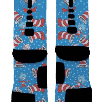 The Cat In The Hat Custom Nike Elite Socks